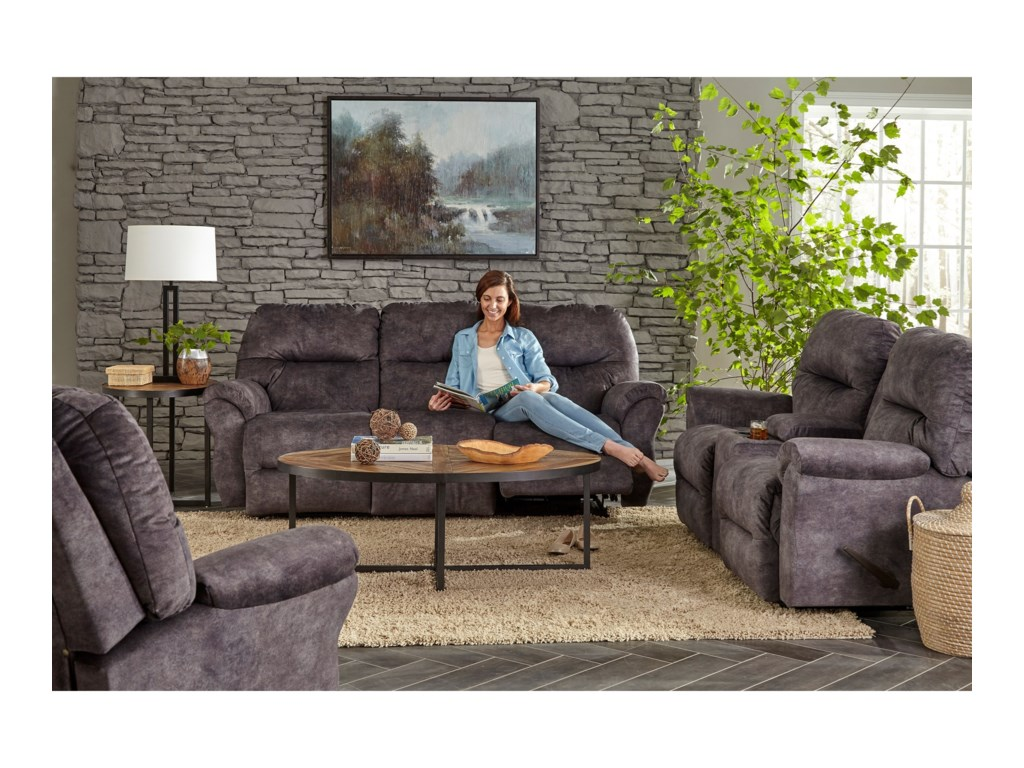 Best Home Furnishings BodiePower Space Saver Reclining Loveseat