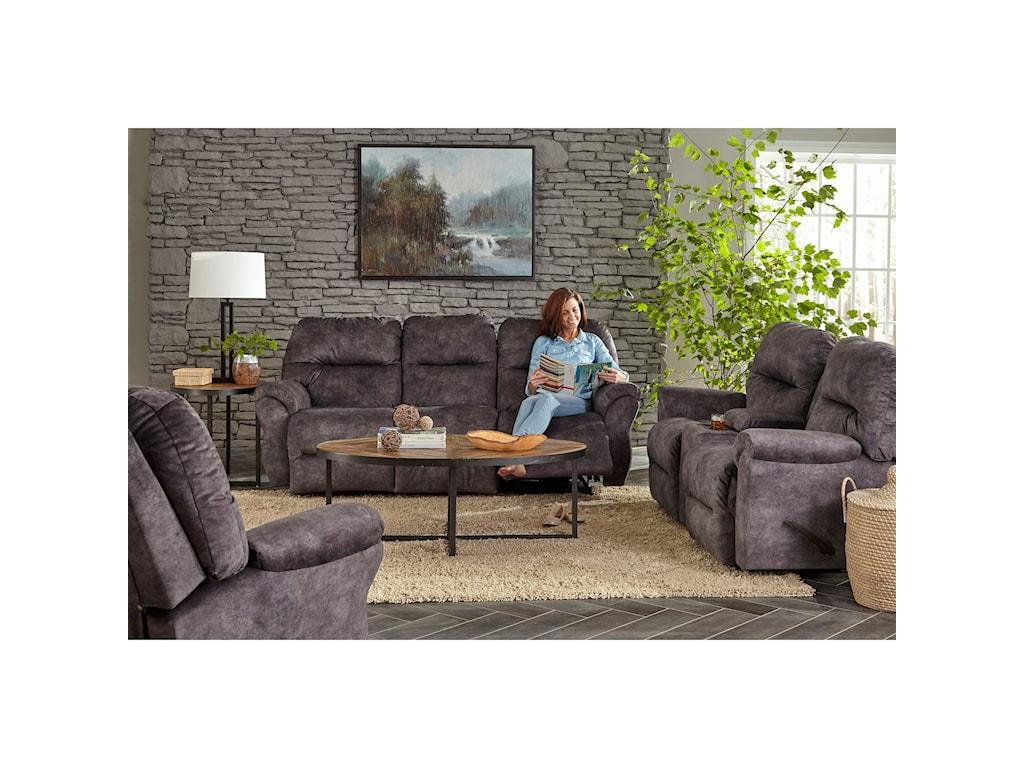 Best Home Furnishings BodieSpace Saver Reclining Loveseat