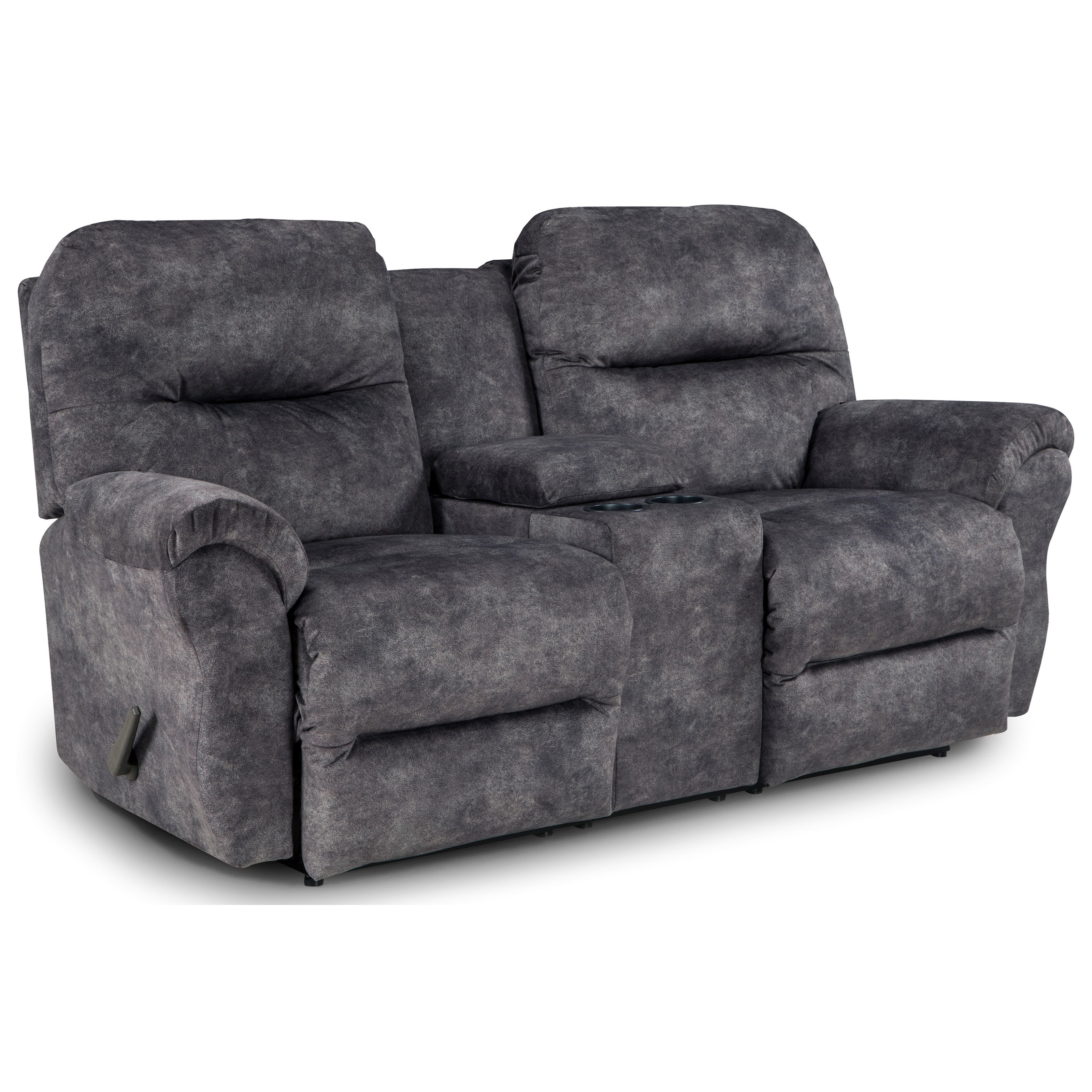 Picture of: Best Home Furnishings Bodie Rocking Reclining Loveseat With Storage Console Wayside Furniture Reclining Loveseats