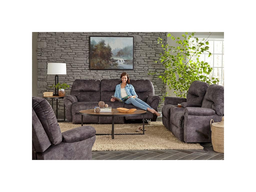 Best Home Furnishings BodieRocking Reclining Loveseat w/ Console