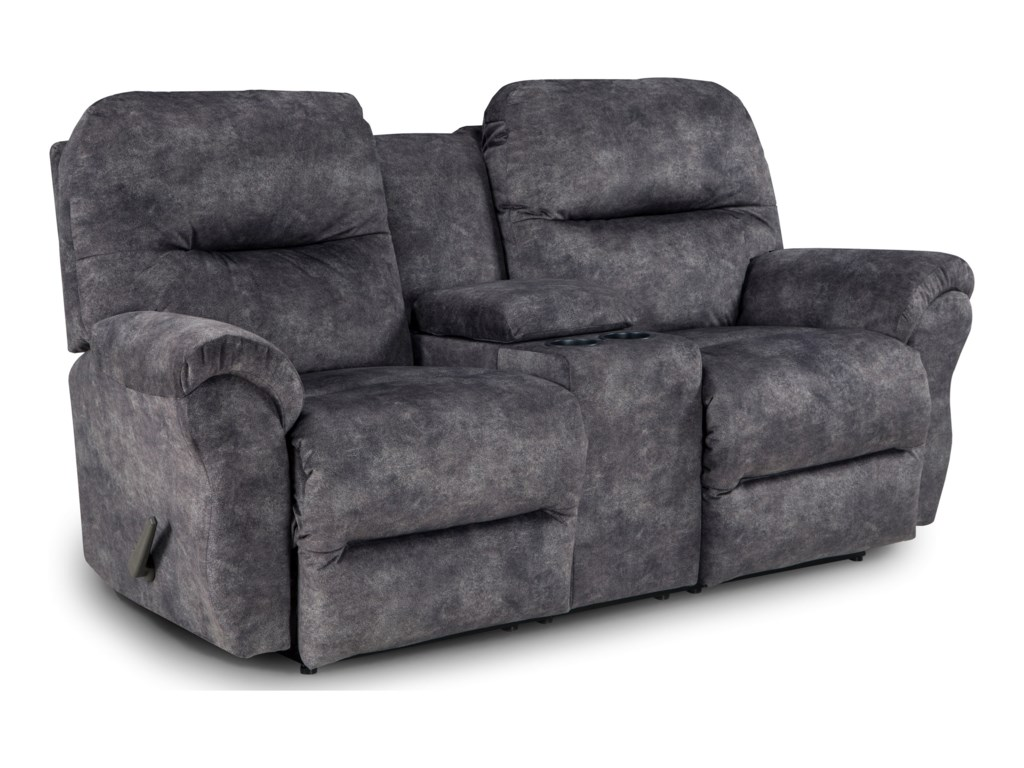 Best Home Furnishings BodiePower Rocking Reclining Loveseat w/ Console