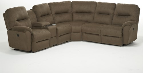 Best Home Furnishings Bodie Six Piece Power Reclining Sectional Sofa