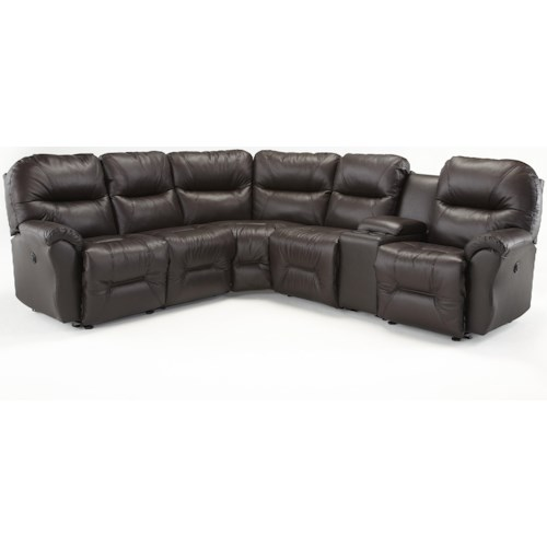 Best Home Furnishings Bodie Six Piece Reclining Sectional Sofa