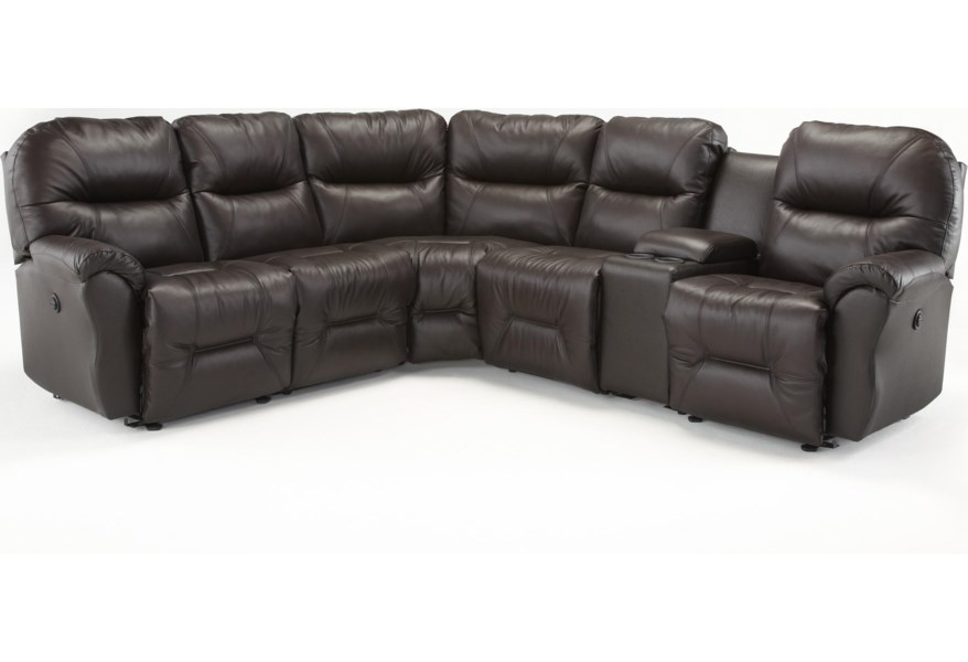 Best Home Furnishings Bodie Six Piece Reclining Sectional ...