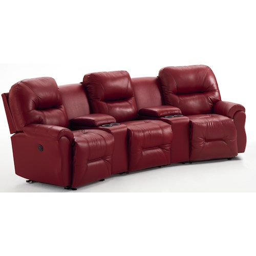 Best Home Furnishings Bodie 3-Seater Power Reclining Home Theater Group