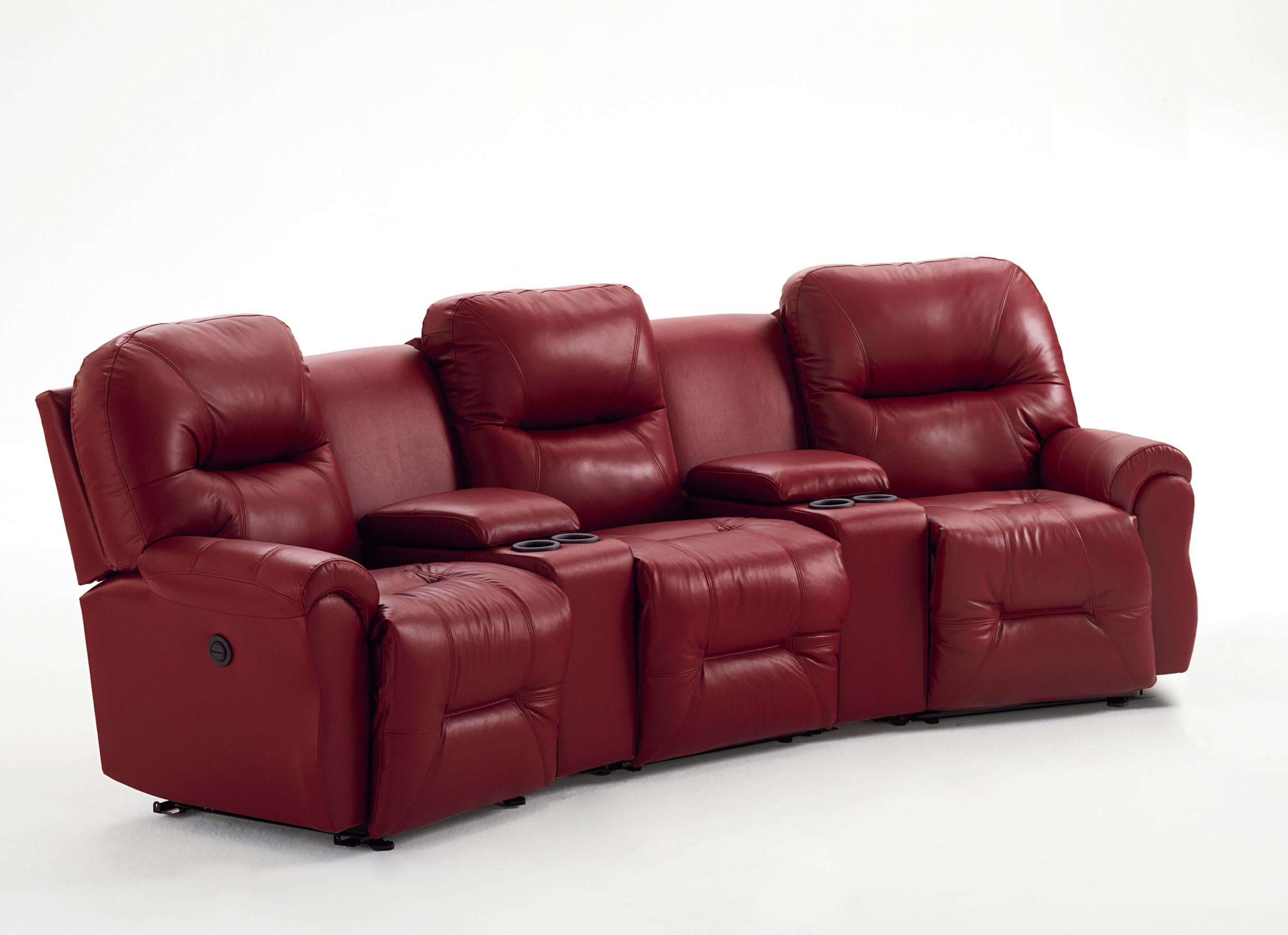 Best Home Furnishings Bodie 3 Seater Power Reclining Home Theater Group