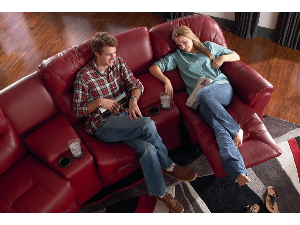 Best Home Furnishings Allure Collection3-Seater Power Reclining Home Theater Group
