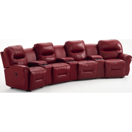 4-Seater Power Reclining Home Theater Group