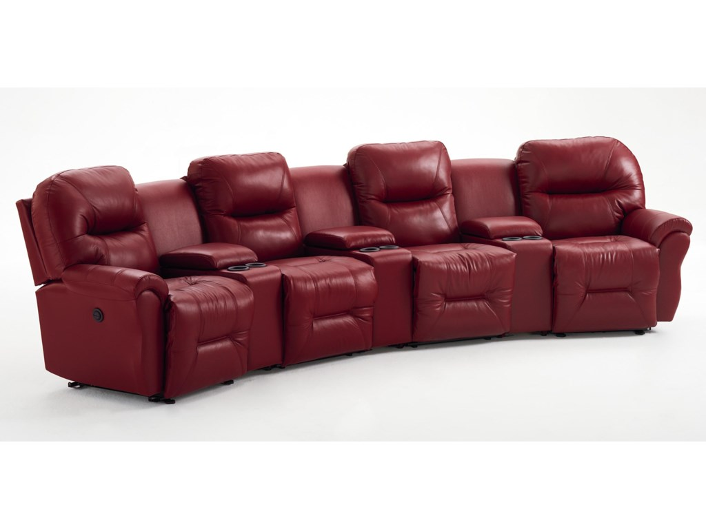 Best Home Furnishings Allure Collection4-Seater Power Reclining Home Theater Group