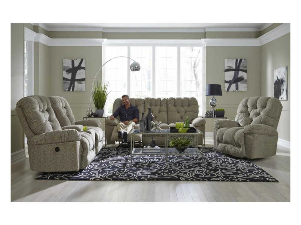 Best Home Furnishings BoltPower Rocker Console Loveseat