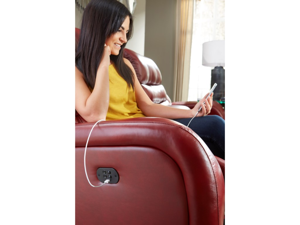 Best Home Furnishings BosleyPower Tilt Headrest Space Saver Sofa Chaise