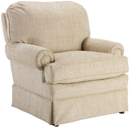 Best Home Furnishings Braxton Swivel Glider Club Chair With Welt Cord Trim