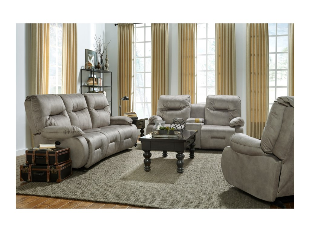 Best Home Furnishings Brinley 2Power Recline Living Room Group w/ Pwr Head