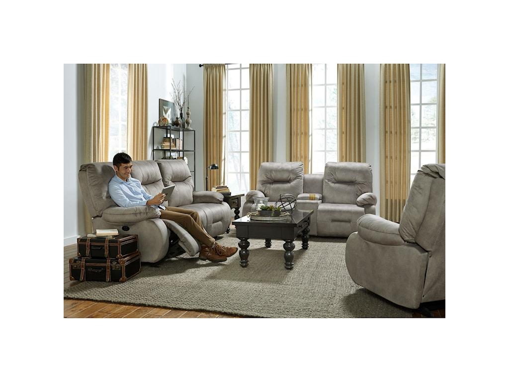 Best Home Furnishings Key WestRocking Reclining Console