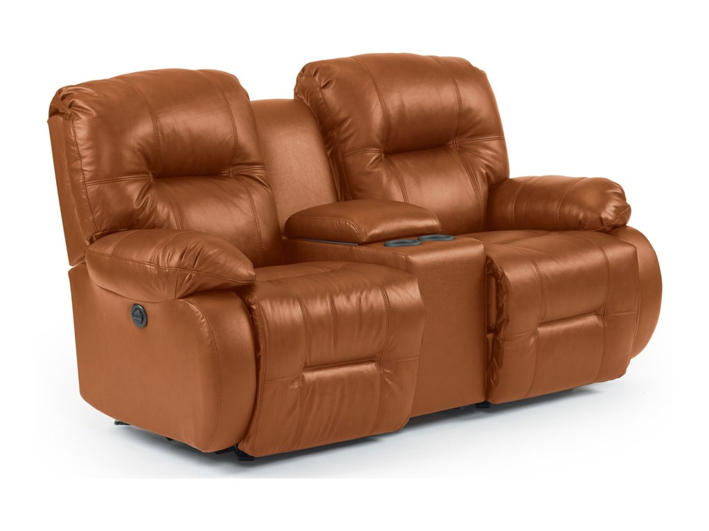 Best Home Furnishings Brinley 2Power Rocking Reclining Console Loveseat