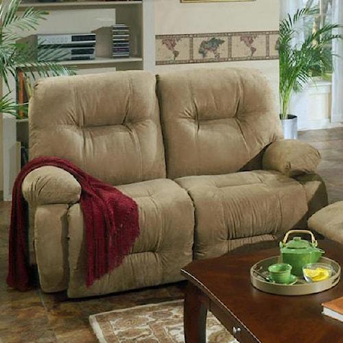 Best Home Furnishings Brinley 2 Brinley Space Saver Reclining Loveseat