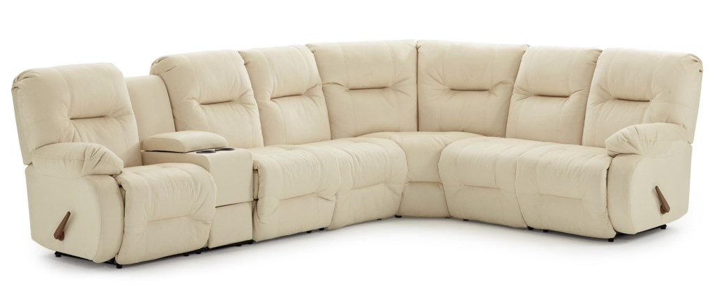 Best Home Furnishings Brinley 2 Casual Reclining Sectional Sofa With