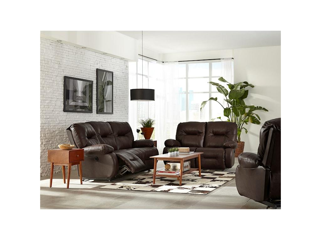 Best Home Furnishings Brinley 2Power Reclining Sofa w/ Pwr Headrest