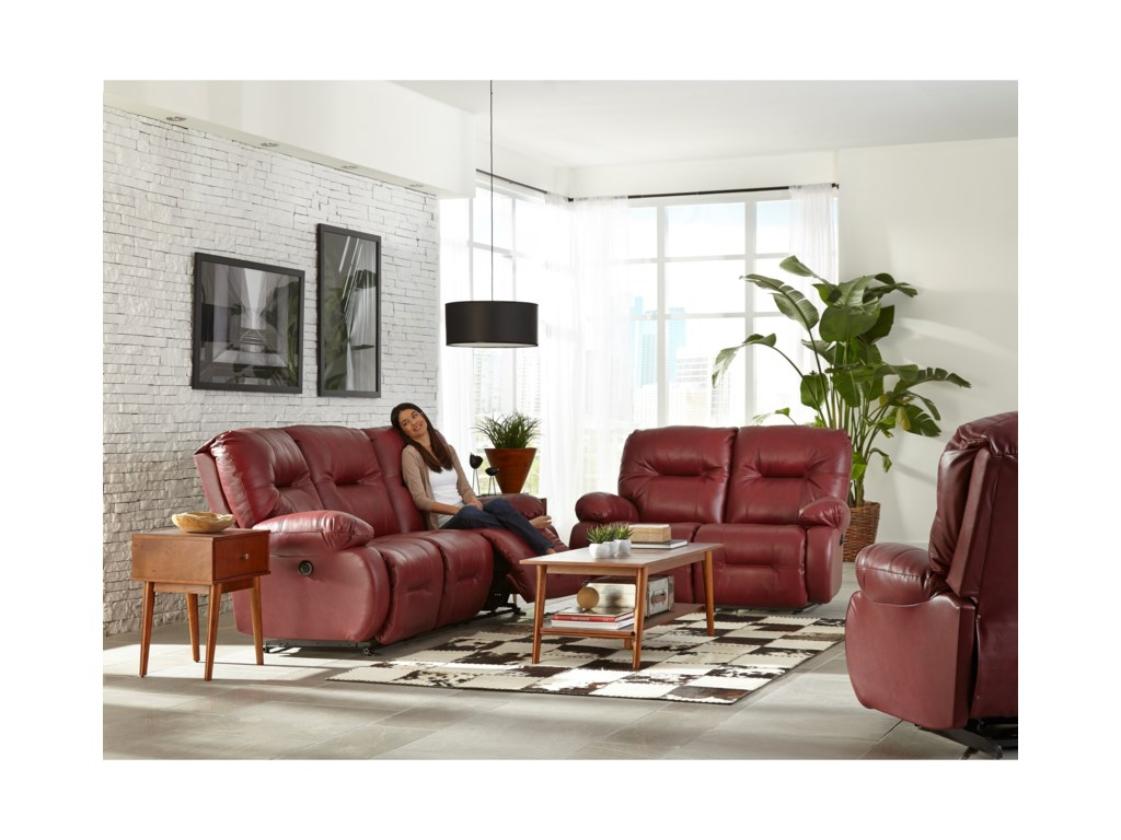 Best Home Furnishings Brinley 2Power Reclining Sofa w/ Pwr Headrest