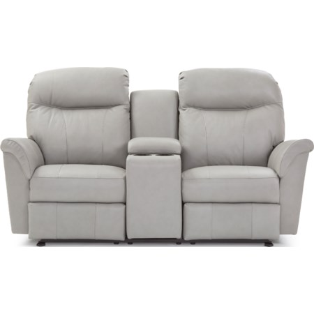 Reclining Power Space Saver Console Loveseat