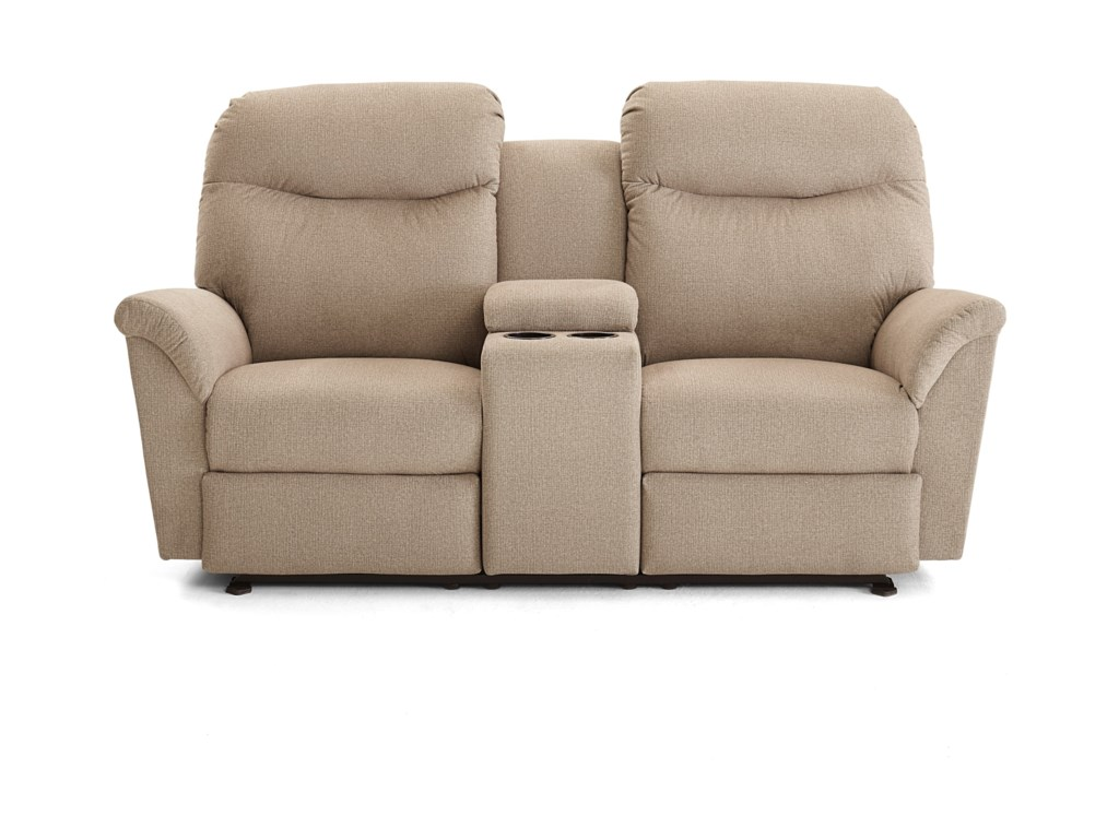 Best Home Furnishings CaitlinReclining Space Saver Console Loveseat