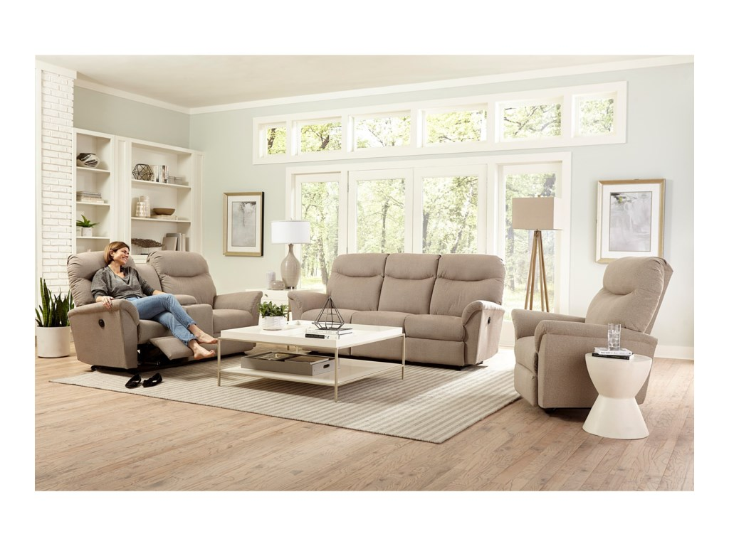Best Home Furnishings CaitlinRocking Reclining Console Loveseat