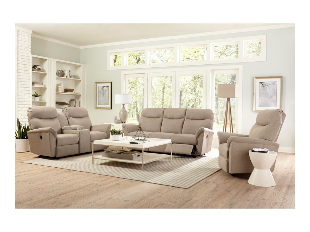 Best Home Furnishings CaitlinPower Reclining Space Saver Sofa