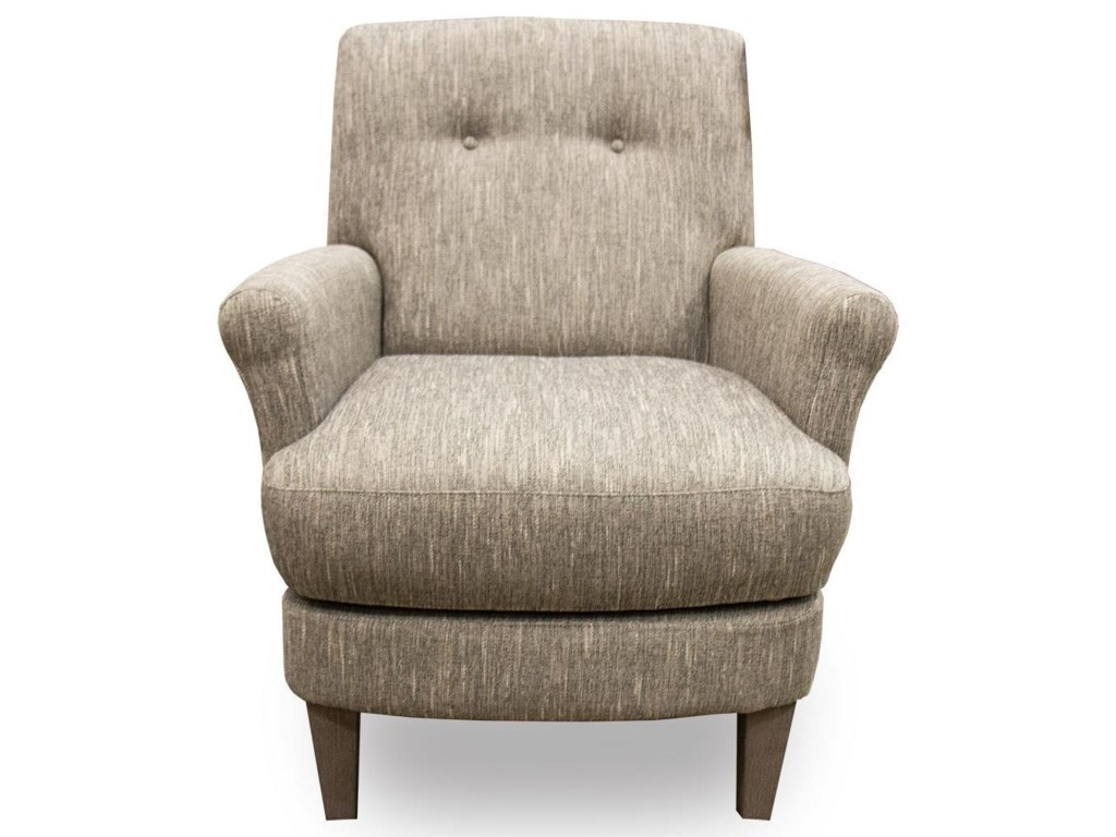 Best Home Furnishings CeriseLinen Swivel Barrel Chair with Wood Legs