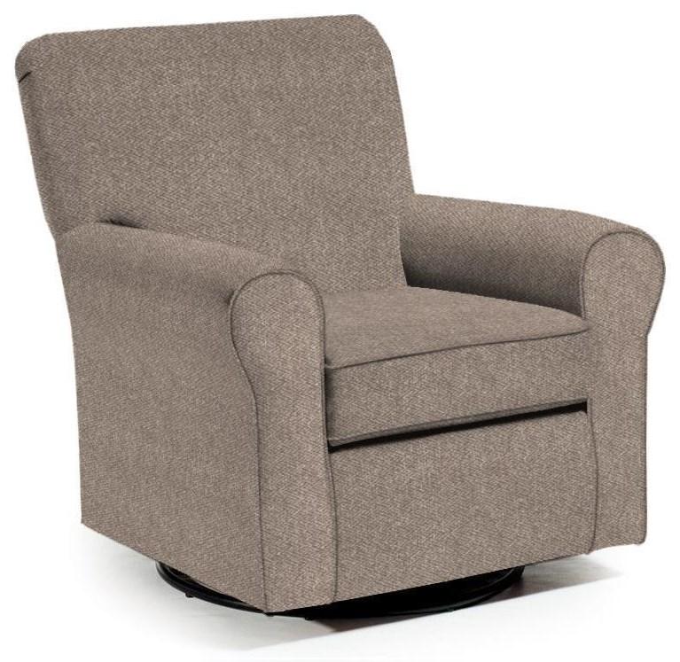 Linen Swivel Glider Chair