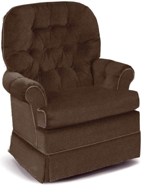 Best Home Furnishings Chairs - Swivel Glide Espresso Swivel Rocker Chair