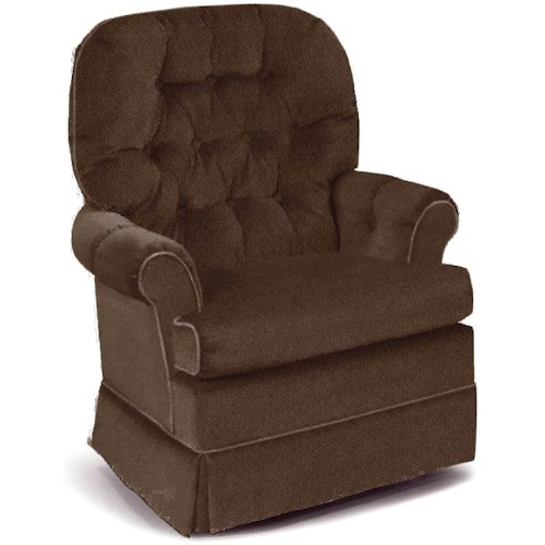 Best Home Furnishings Swivel Glide Chairs Espresso Swivel Rocker Chair