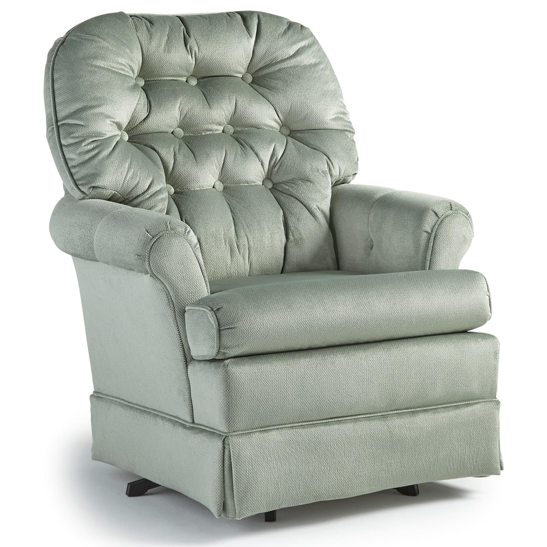 Best Home Furnishings Swivel Glide Chairs Marla Swivel Rocker Chair