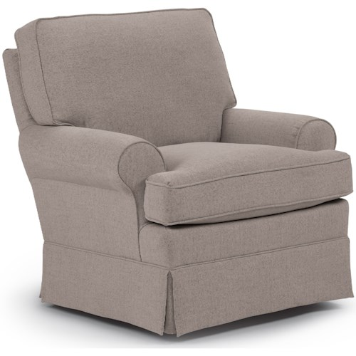 Best Home Furnishings Chairs - Swivel Glide Quinn Swivel Glider Chair without Welt Cord Trim