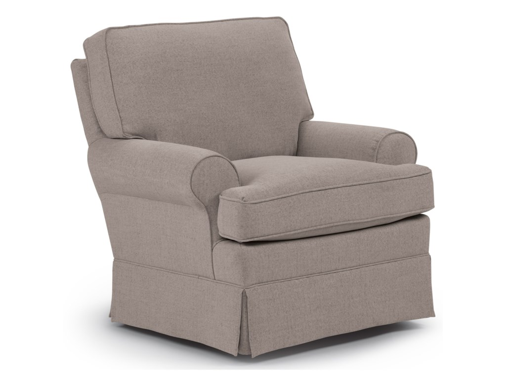 Best Home Furnishings Swivel Glide ChairsSwivel Glider Chair with Welt Cord Trim