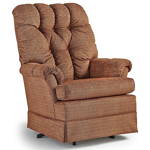 Best Home Furnishings Swivel Glide Chairs Biscay Swivel Rocker Chair