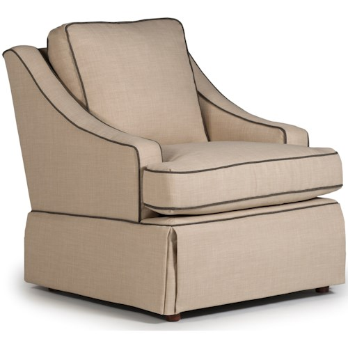 Best Home Furnishings Swivel Glide Chairs Contemporary Ayla Swivel Glider Chair