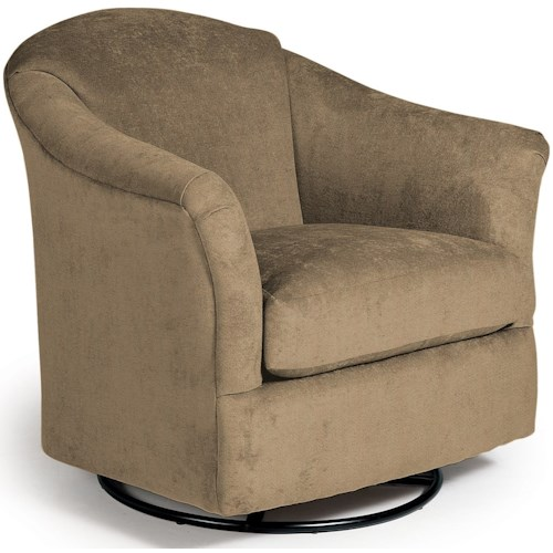 Best Home Furnishings Swivel Glide Chairs Darby Swivel Glider Chair