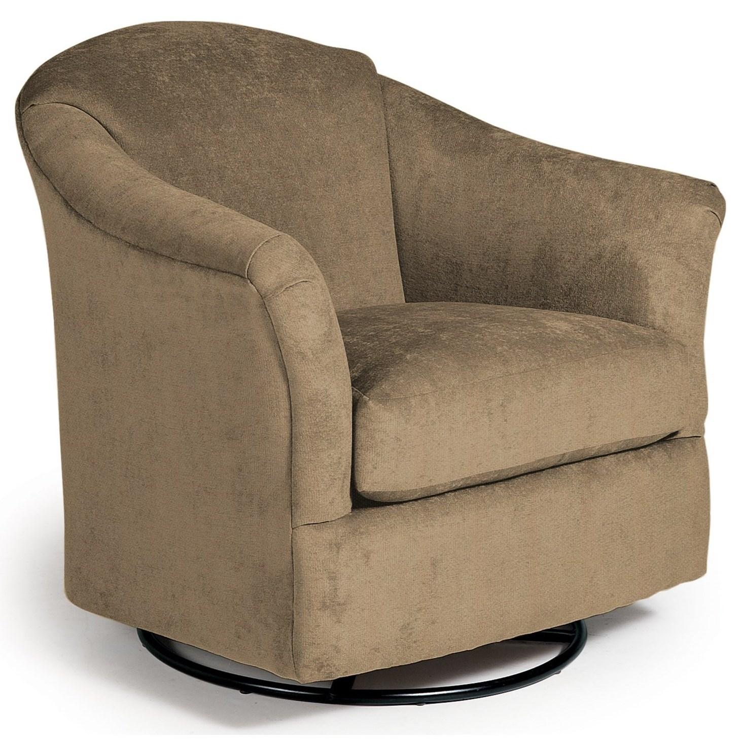 Best Home Furnishings Swivel Glide Chairs Darby Swivel Glider Chair