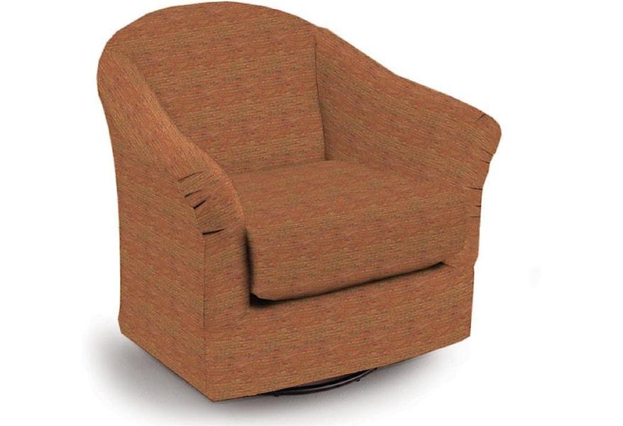 Best Home Furnishings Swivel Glide Chairs 1280242 Darby Swivel Glider Dunk Bright Furniture Glider Rockers