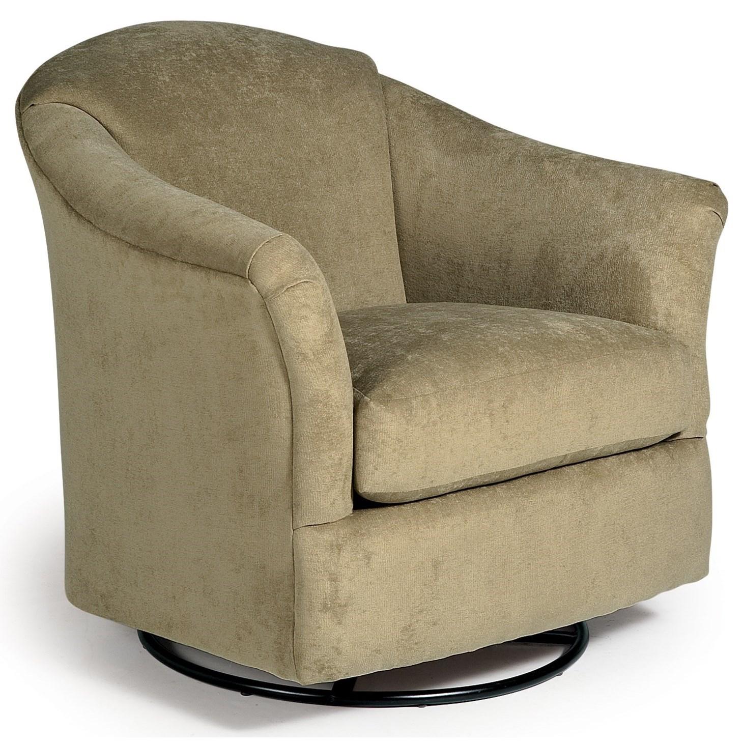 Best Home Furnishings Chairs   Swivel Glide Darby Swivel Glider Chair
