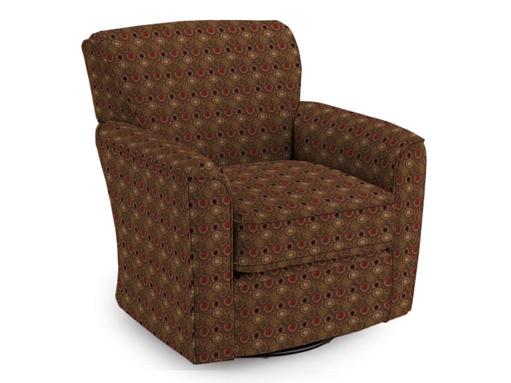 Best Home Furnishings Chairs   Swivel GlideKaylee Swivel Barrel Chair
