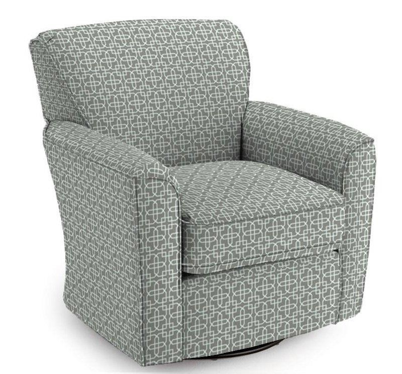 Best Home Furnishings Chairs   Swivel Glide Kaylee Swivel Barrel Arm Chair    Miskelly Furniture   Upholstered Chair