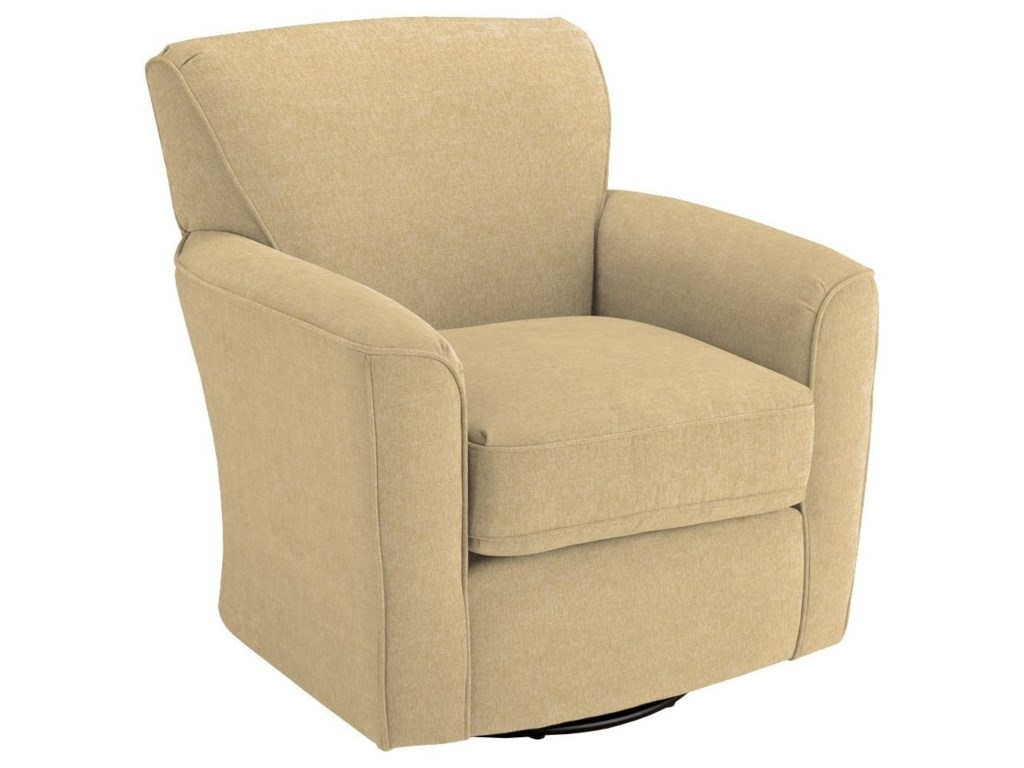 Swivel Glide Chairs Kaylee Swivel Barrel Arm Chair by Best Home Furnishings  at Fashion Furniture