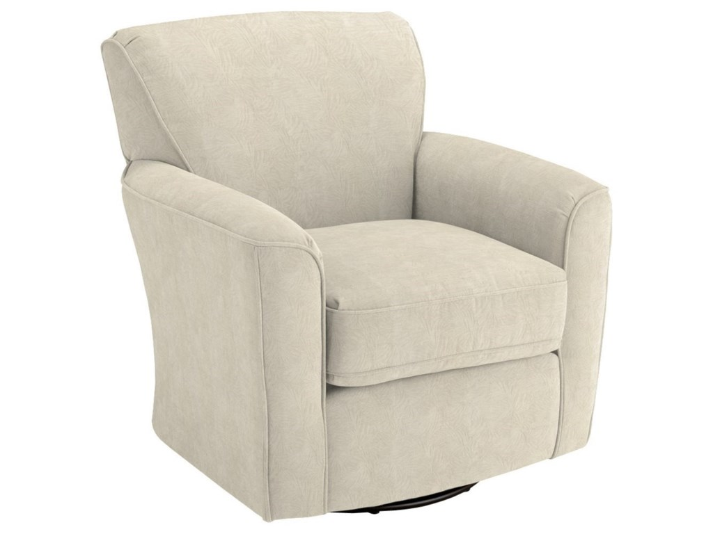 Swivel Glide Chairs Kaylee Swivel Barrel Arm Chair by Best Home Furnishings  at Miskelly Furniture