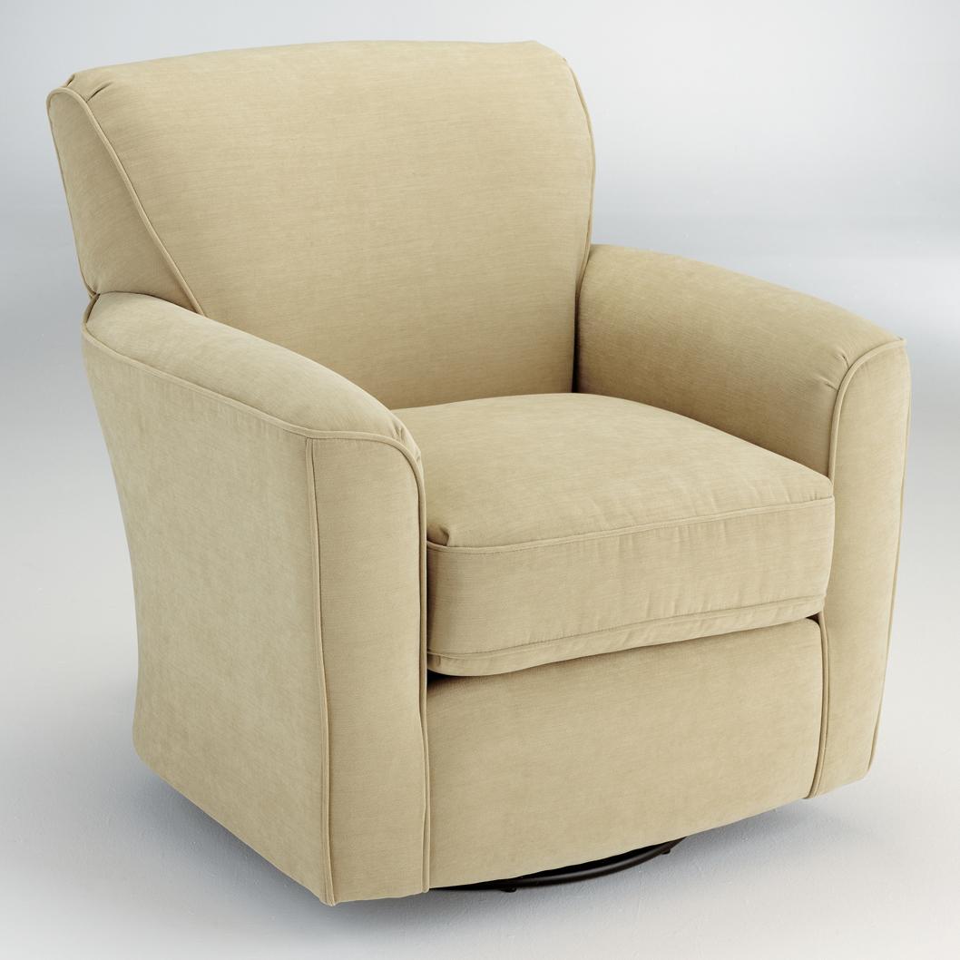 Best Home Furnishings Swivel Glide Chairs Kaylee Swivel Barrel Arm Chair