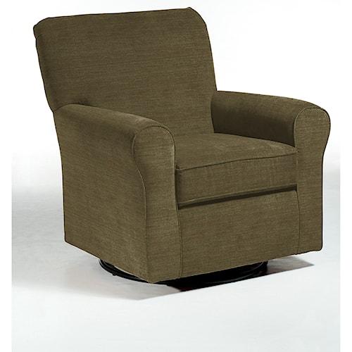 Best Home Furnishings Chairs - Swivel Glide Hagen Swivel Glide Chair