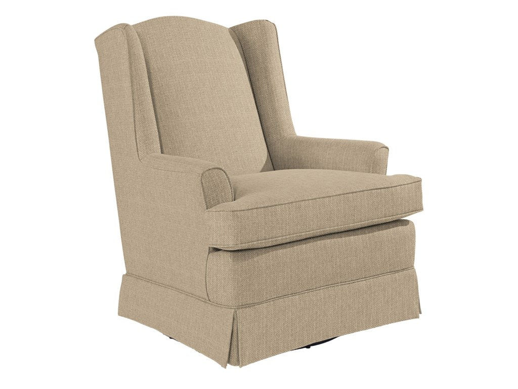 Best chairs glider - Best Home Furnishings Chairs Swivel Glide Natasha Swivel Glider With Wing Back And Skirt Dunk Bright Furniture Upholstered Chairs