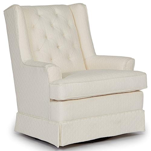 Best Home Furnishings Chairs - Swivel Glide Nikole Skirted Swivel Glider