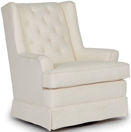 Best Home Furnishings Chairs - Swivel Glide Nikole Skirted Swivel Glider