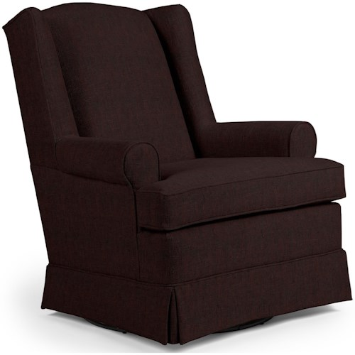 Best Home Furnishings Chairs - Swivel Glide Roni Skirted Swivel Glider Chair